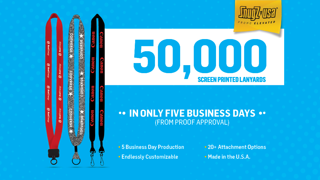 50,000 Screen Printed Lanyards