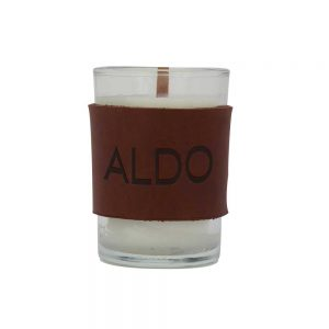 Harper Leather Wrapped Candle - THARPER