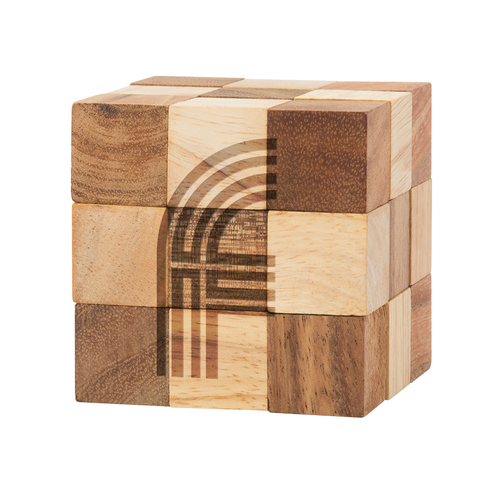 RATTLER Wood Snake Cube Puzzle (TRATTLER)