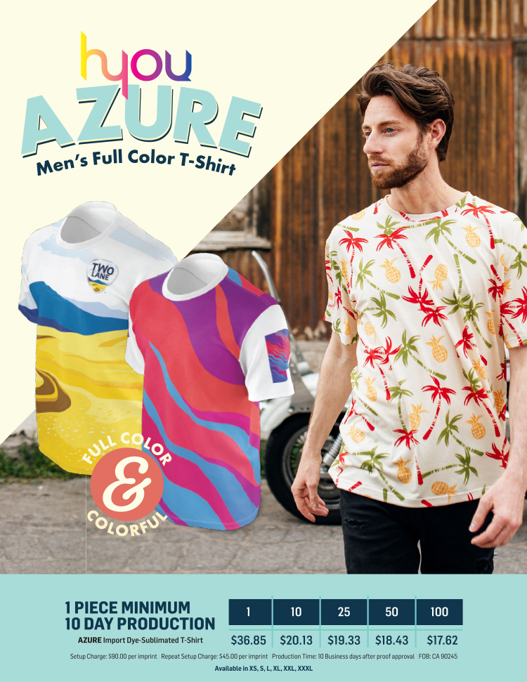 Azure Men's Full Color T-Shirt