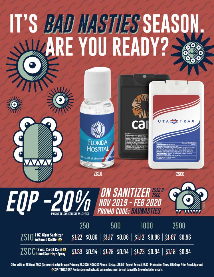 EQP -20% on Sanitizer